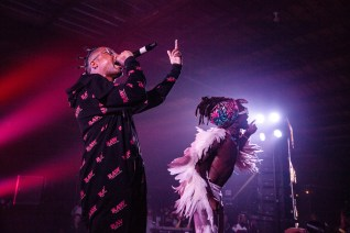 ATLANTA, GEORGIA - OCTOBER 12: EARTHGANG performs during day 1 of AFROPUNK Music Festival at Atlanta 787 WINDSOR on October 12, 2019 in Atlanta, Georgia. Photo: Ryan Fleisher/imageSPACE