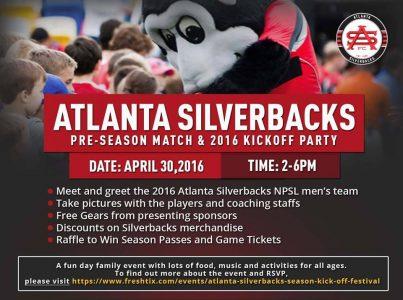 atl silverbacks kickoff 2016