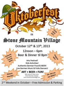 stone mountain village oktoberfest
