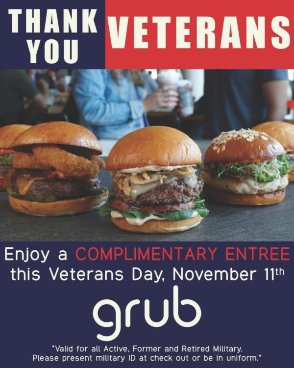 grub burger bar promo code