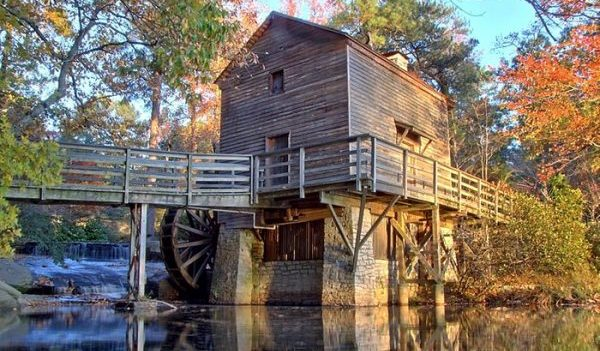 the old mill at stone mountain park in georgia