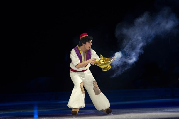 The character of Aladdin in Disney on ICe