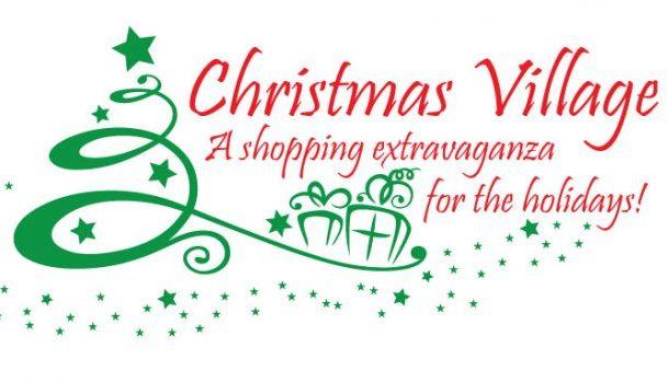 Christmas Village shopping market logo