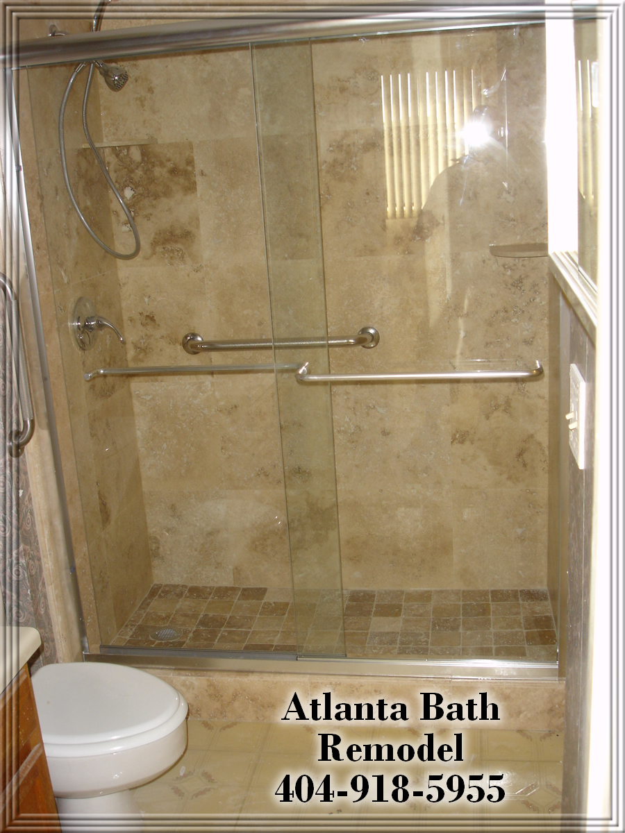 Atlanta Shower Remodel Travertine Shower Ideas Pictures Images