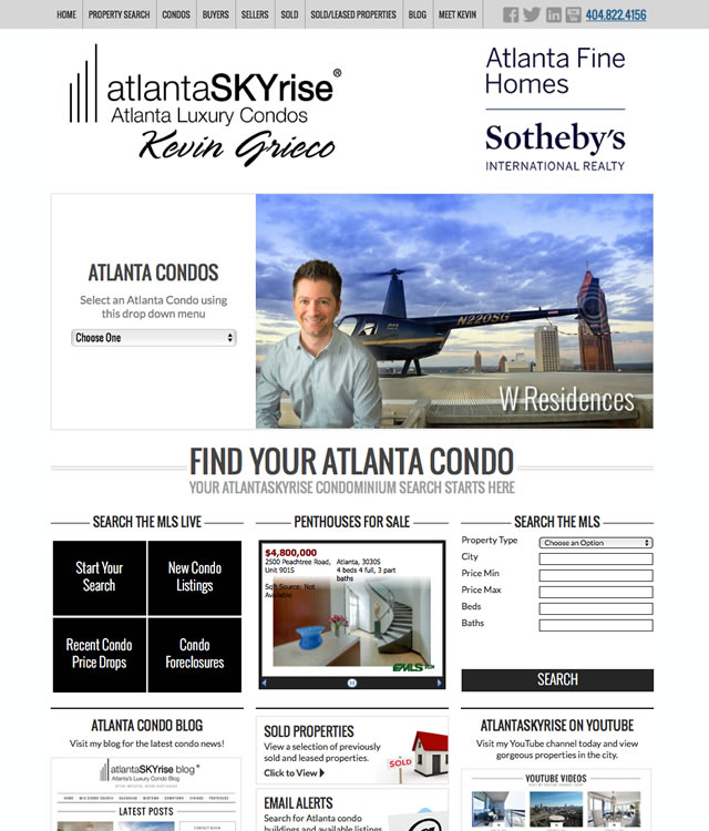 atlantaSKYrise.com Website ALL New
