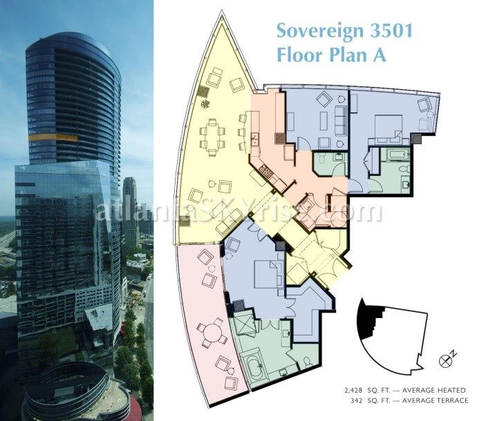 Sovereign A Floor Plan Color