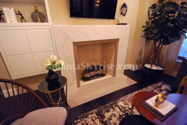 HGTV Urban Oasis 2014 Living Room Fireplace