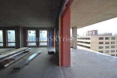 Juniper Floor Plan - Living room and terrace view