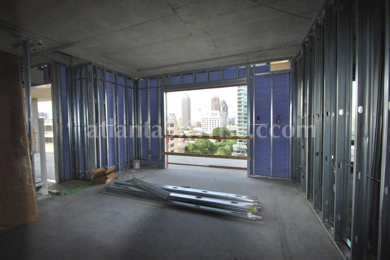 Juniper Floor Plan - Master bedroom looking out toward the terrace.