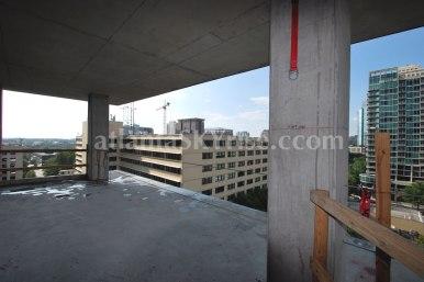 Juniper Floor Plan - The terrace is very large by Midtown standards.