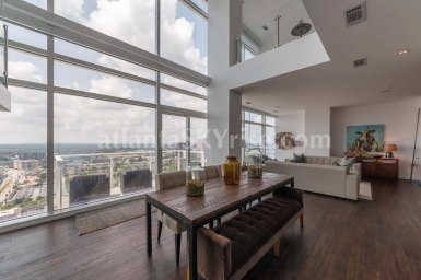 W Residences 45 Ivan Allen Penthouse 2703 Great Room 1
