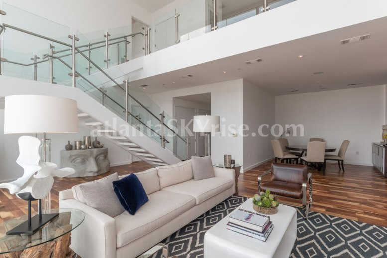 W Residences 45 Ivan Allen Penthouse 2706 Great Room 1