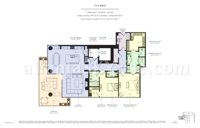 Four West Floor Plan