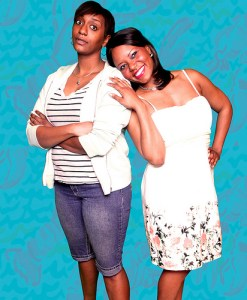 Tiffany Porter and Cynthia D. Barker in Horizon Theatre's Elemeno Pea. Photo by Bradley Hester