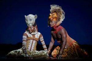 Nia Holloway as  Nala and  Jelani Remy as Simba. Photo by Joan Marcus ©Disney