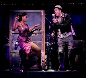 Felicia Boswell (Felicia) & Bryan Fenkart (Huey) in the national tour of Memphis at Atlanta's Fox Theatre