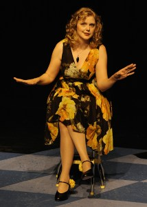 Megan Gogerty in Feet First in the Water with a Baby in My Teeth at Synchronicity Theatre