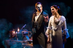 """The Music of the Night,"" Cooper Grodin as The Phantom and Julia Udine as Christine  Daaé. Photo: Matthew Murphy"