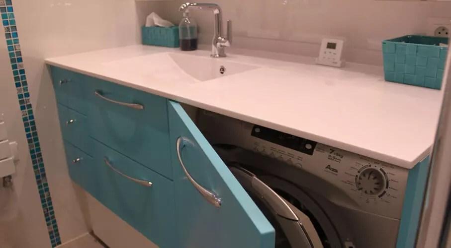 Masquer Un Lave Linge Dans Un Meuble De Salle De Bain