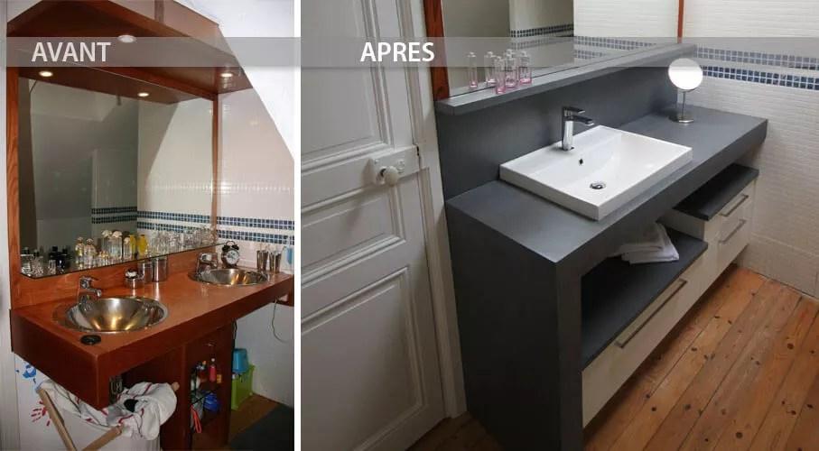 Avant Et Aprs Rnovation Du Meuble De La Salle De Bain