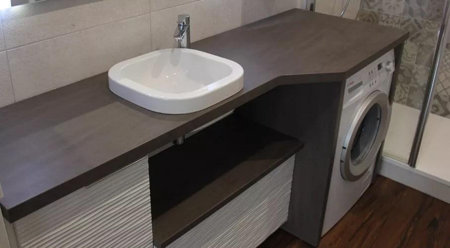 meuble salle de bain integrant machine