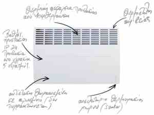 Electric heaters Atlantic 5 years warranty - Greece dealer Sani hellas SA