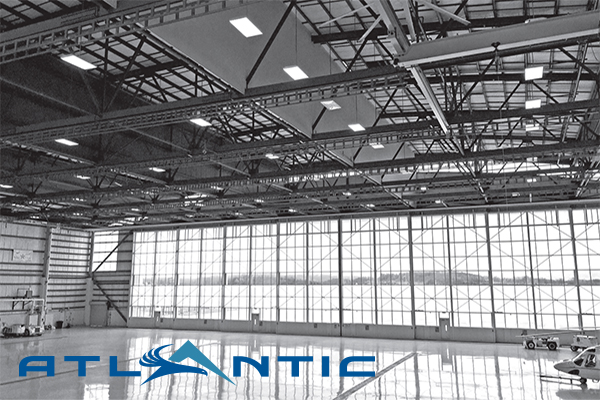 Atlantic Aviation Announces New Corporate Hangar at SWF The 100 000 sq  ft  facility includes 60 000 sq  ft  of heated hangar and  40 000 sq  ft  of shop