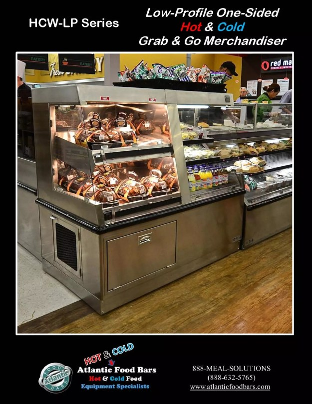 Atlantic Food Bars - Low Profile Side by Side Combination Hot and Cold Merchandiser - HCW6034-CE-SC-LP
