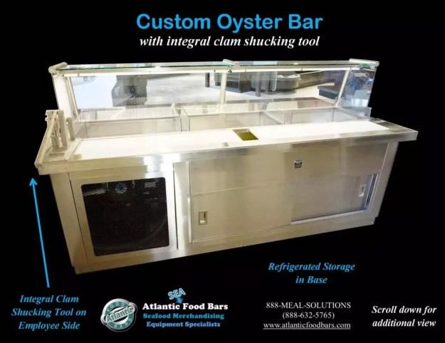 Atlantic Food Bars - Custom 8' Oyster Shucking Case 3