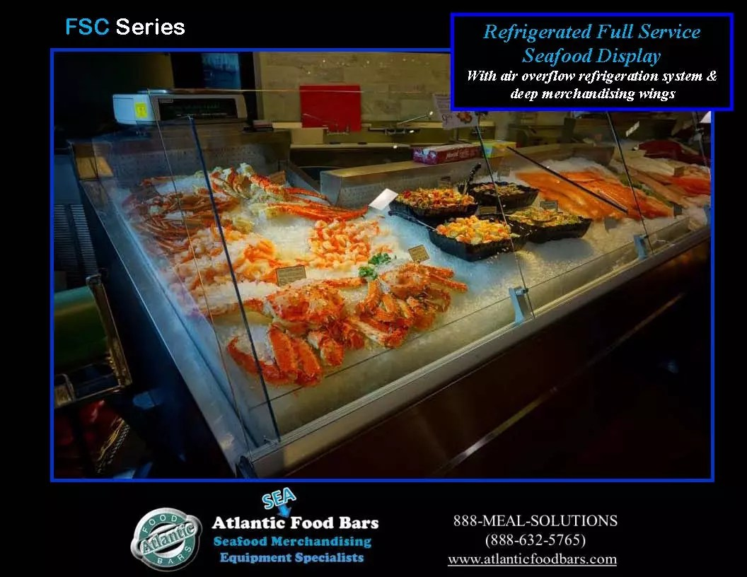 Atlantic Food Bars Angled And Curved Fresh Seafood Cases
