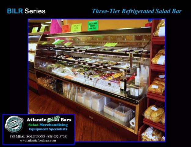 Atlantic Food Bars - Three-Tier Refrigerated Salad Bar - BILR11734