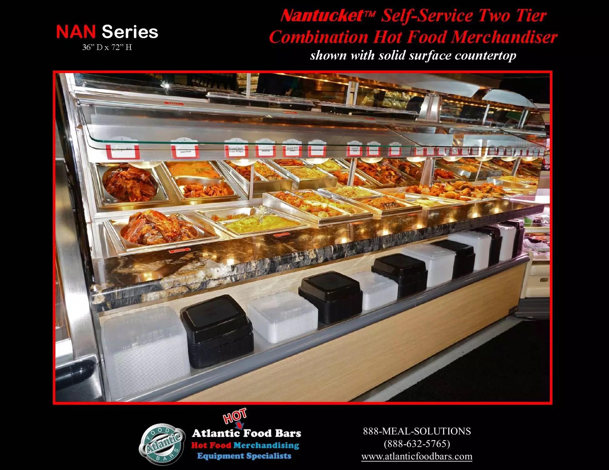 Atlantic Food Bars - Nantucket 2-Tier Combination Hot Case   The ...