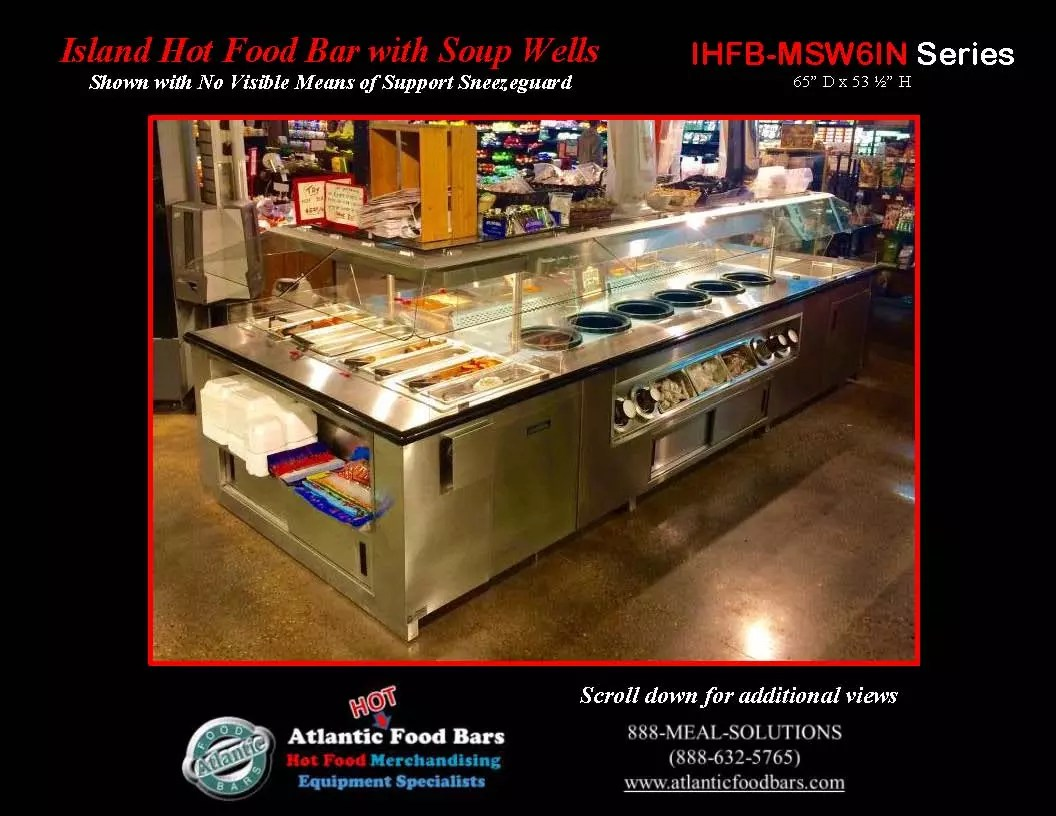 Atlantic food bars island hot food bar with soup wells for Food bar meaning