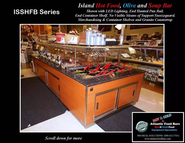 Atlantic Food Bars - Island Hot Food, Soup and Olive Bar - ISSHFB-ECS-GC-LB-LED-RSD2-SPR-VH 1