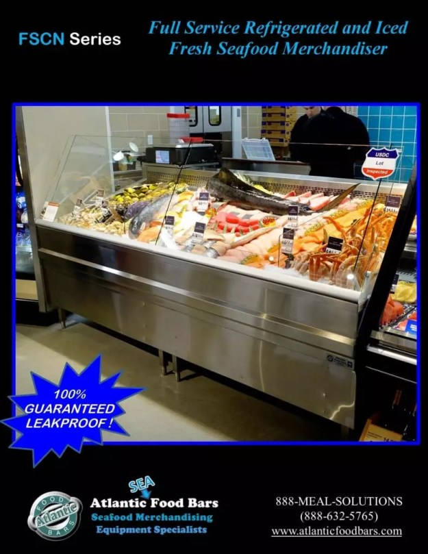 Atlantic Food Bars - 8' Iced and Refrigerated Seafood Case - FSCN9642 3