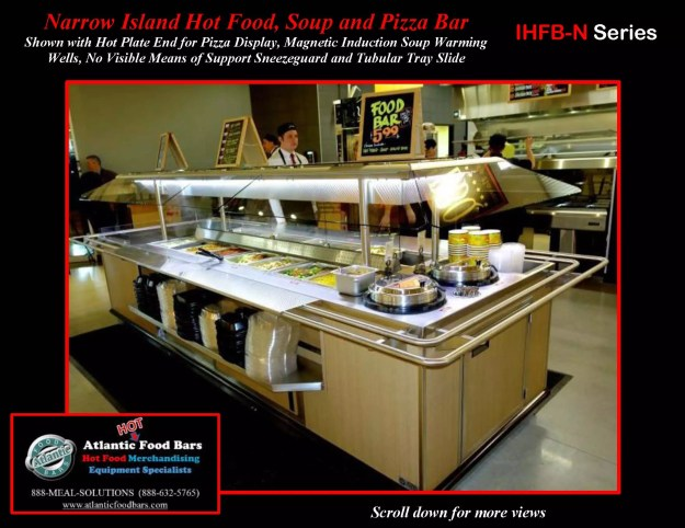 Atlantic Food Bars - Narrow Island Hot Food, Soup and Pizza Bar with Tubular Tray Slide - IHFBN-SB-HP-TS-VH_Page_1