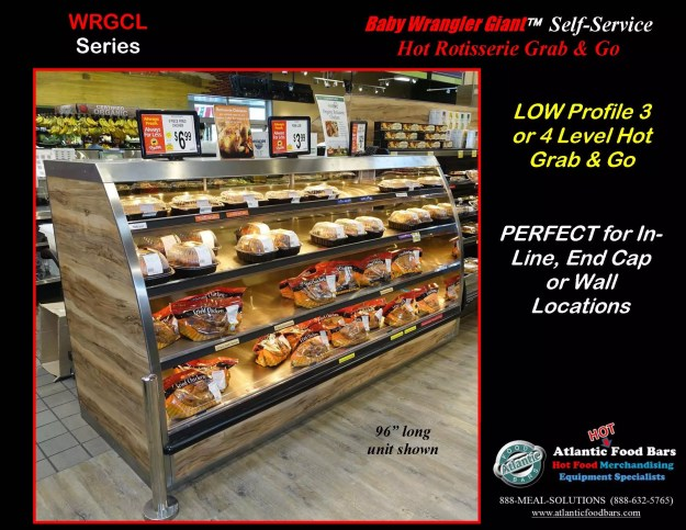 Atlantic Food Bars - 8' Baby Wrangler Giant Self-Service Hot Rotisserie Chicken Case - WRGCL9637_Page_2