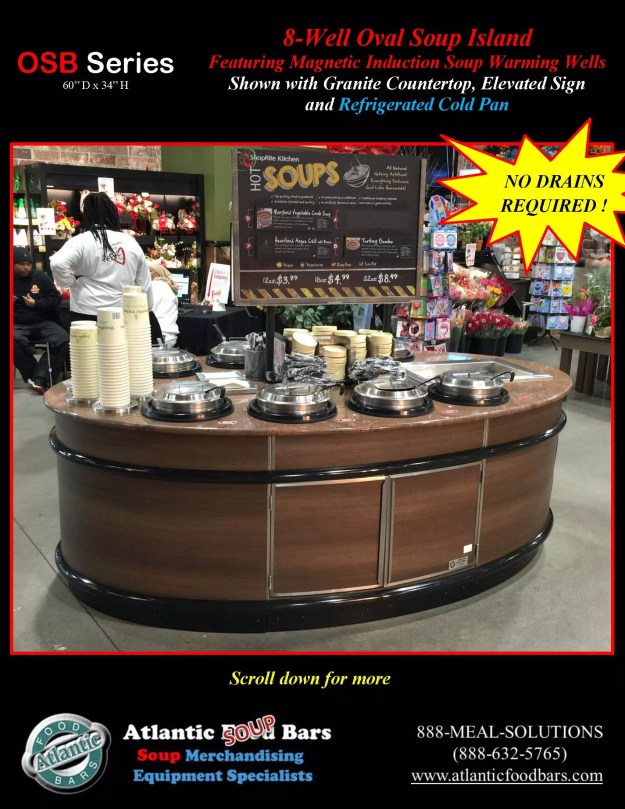 Atlantic Food Bars - 8' Oval Soup Bar with Elevated Sign and Refrigerated Cold Pan - OSB9246-GC-ISW-LB-RCP_Page_1