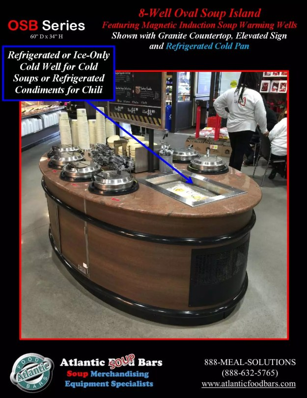 Atlantic Food Bars - 8' Oval Soup Bar with Elevated Sign and Refrigerated Cold Pan - OSB9246-GC-ISW-LB-RCP_Page_3