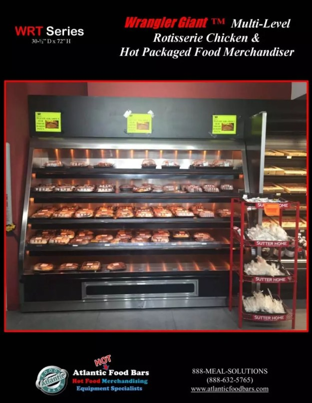 Atlantic Food Bars - 8' Wrangler Giant with 5 Shelves for Hot Packaged Food Merchandising - WR9629T-AS-AS_Page_2
