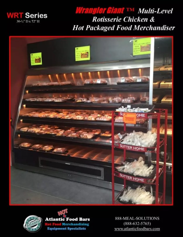 Atlantic Food Bars - 8' Wrangler Giant with 5 Shelves for Hot Packaged Food Merchandising - WR9629T-AS-AS_Page_3