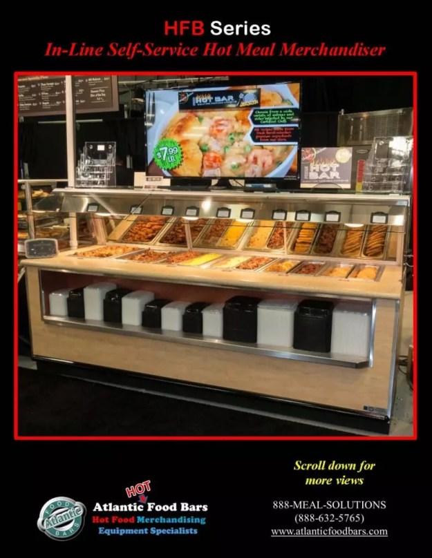 Atlantic Food Bars - 10' In-Line Hot Food Buffet with Woodgrain Laminate - HFB12043_Page_1
