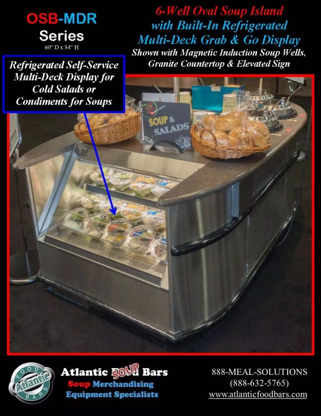 Atlantic Food Bars - 6-Well Oval Soup Bar with Built-In Refrigerated Grab and Go Multi-Deck Display and Elevated Sign - OSB-GC-ISW6-MDR_Page_3