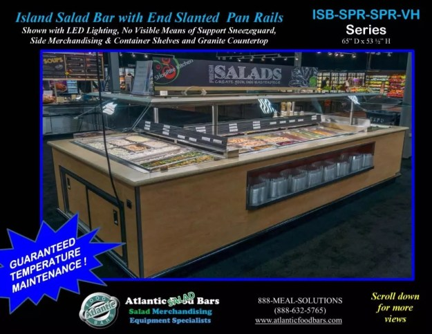 Atlantic Food Bars - Island Salad Bar featuring Flat End Pan Rails with Lettuce Divider Kit - ISB14863-SPR-SPR-SSC-VH_Page_1