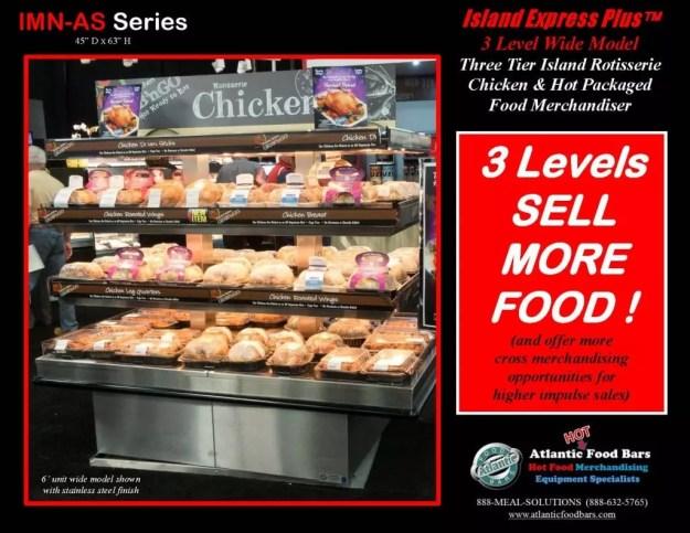 Atlantic Food Bars - Three Level Island Express PLUS Wide Hot Rotisserie Chicken Merchandiser - IMN7245-AS_Page_1