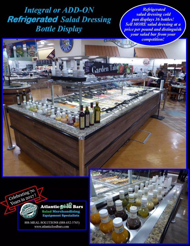 Atlantic Food Bars - Integral or ADD-ON Refrigerated Salad Dressing Bottle Display