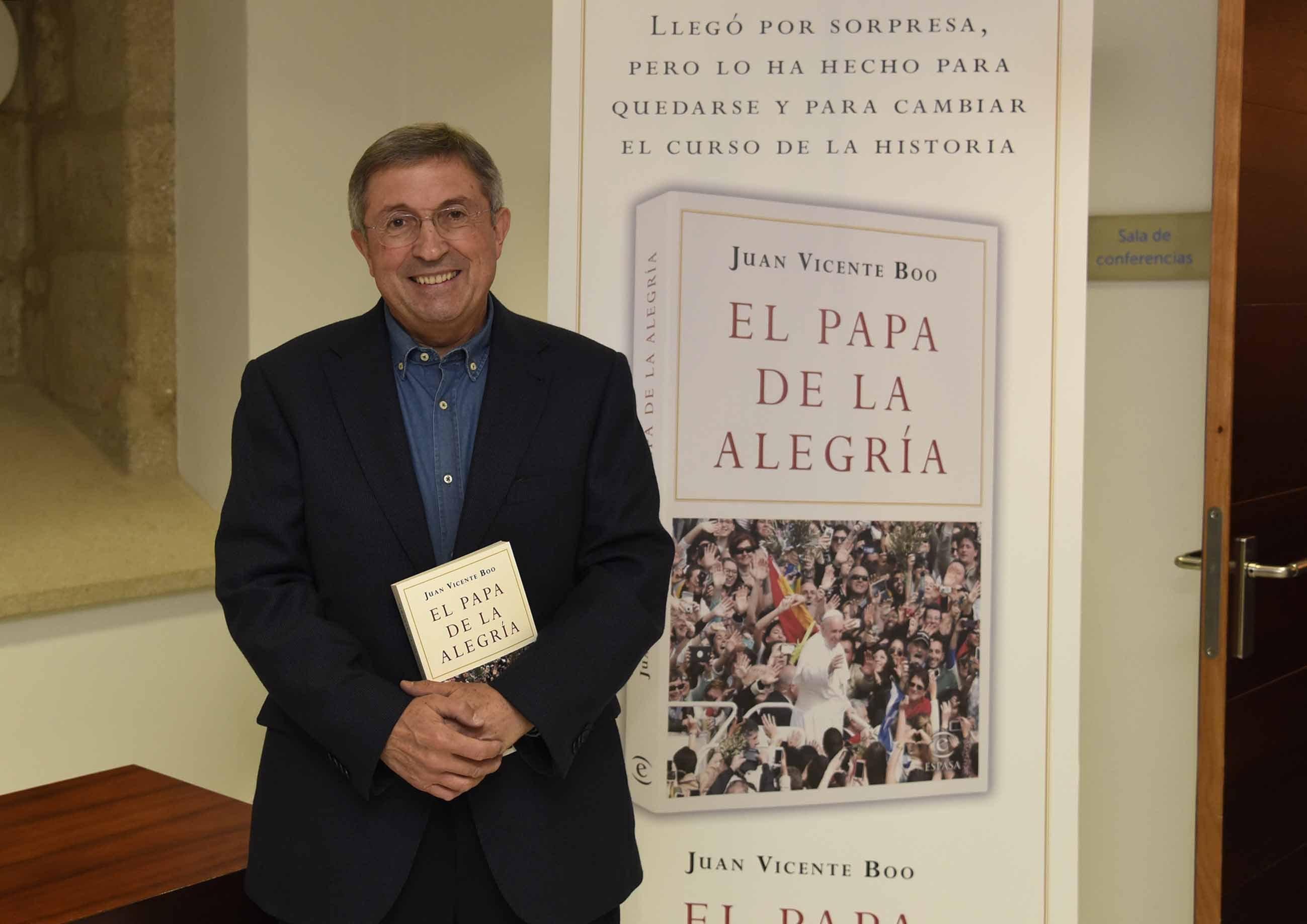 Juan Vicente Boo, ayer, en la presentación de su libro en Vigo.