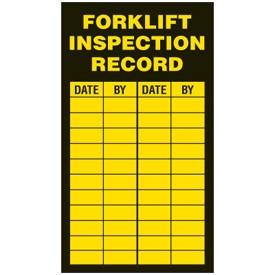 inspection label forklifts
