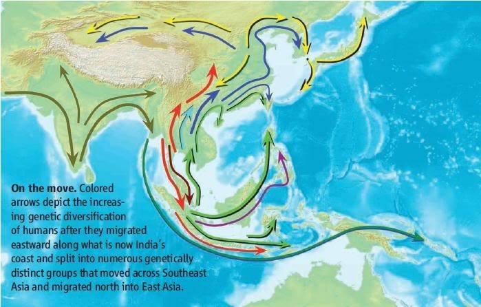 Nenek Moyang Orang Asia Asalnya dari Nusantara/Asia Tenggara