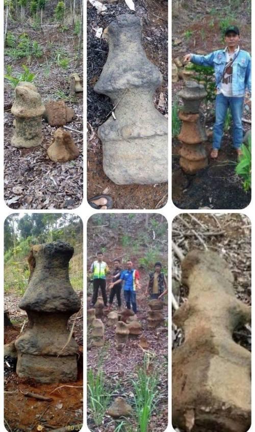 Benda Diduga Situs Ditemukan Di Geopark Sukabumi